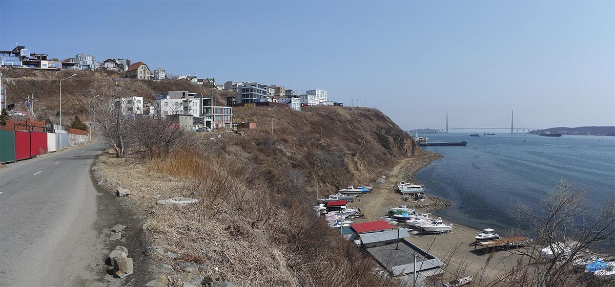 владивосток, эгершельд, берег, панорама