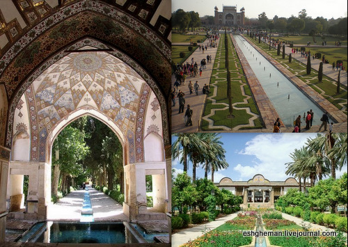 Lotus Temple In India , On Principles From The Old Persian Gardens .