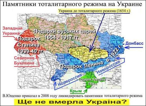 Украины - подарки земель