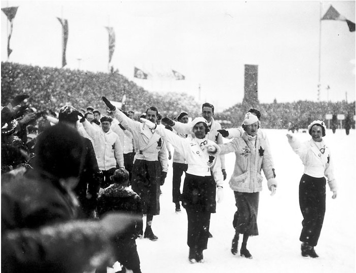 Canadian-Olympians-at-1936-Winter-Olympics-Germany