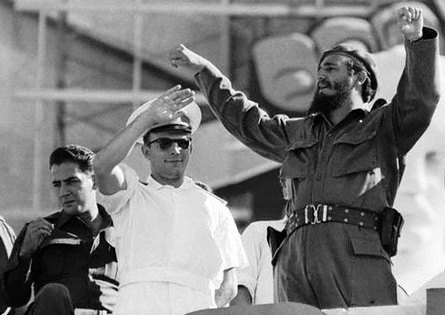 Yuri Gagarin meets Fidel Castro, Havana, 1961 (4)