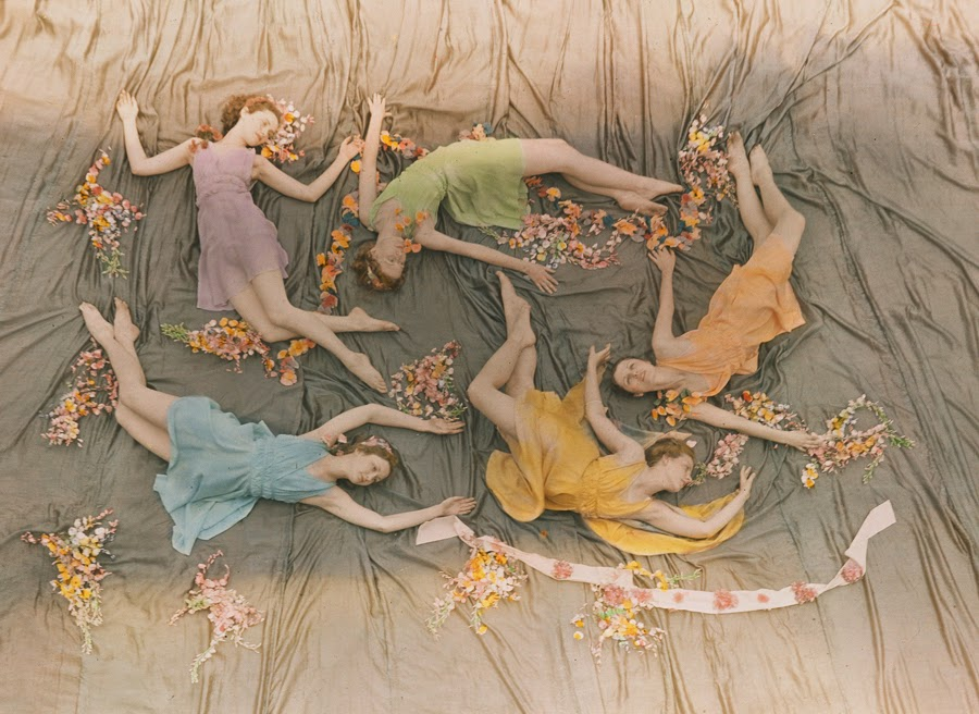 A group of dancers perform at the Mississippi State College for Women, 1937. Photograph by J. Baylor Roberts, National Geographic