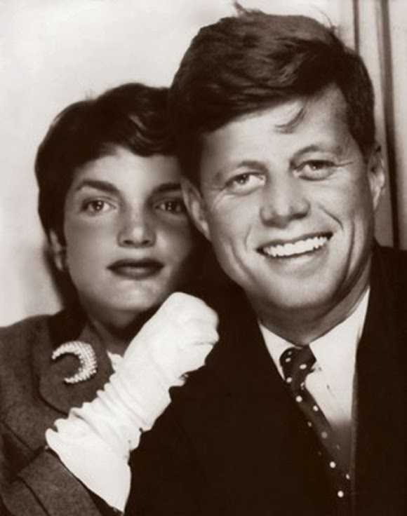 JFK and Jackie in a photobooth, ca. 1953