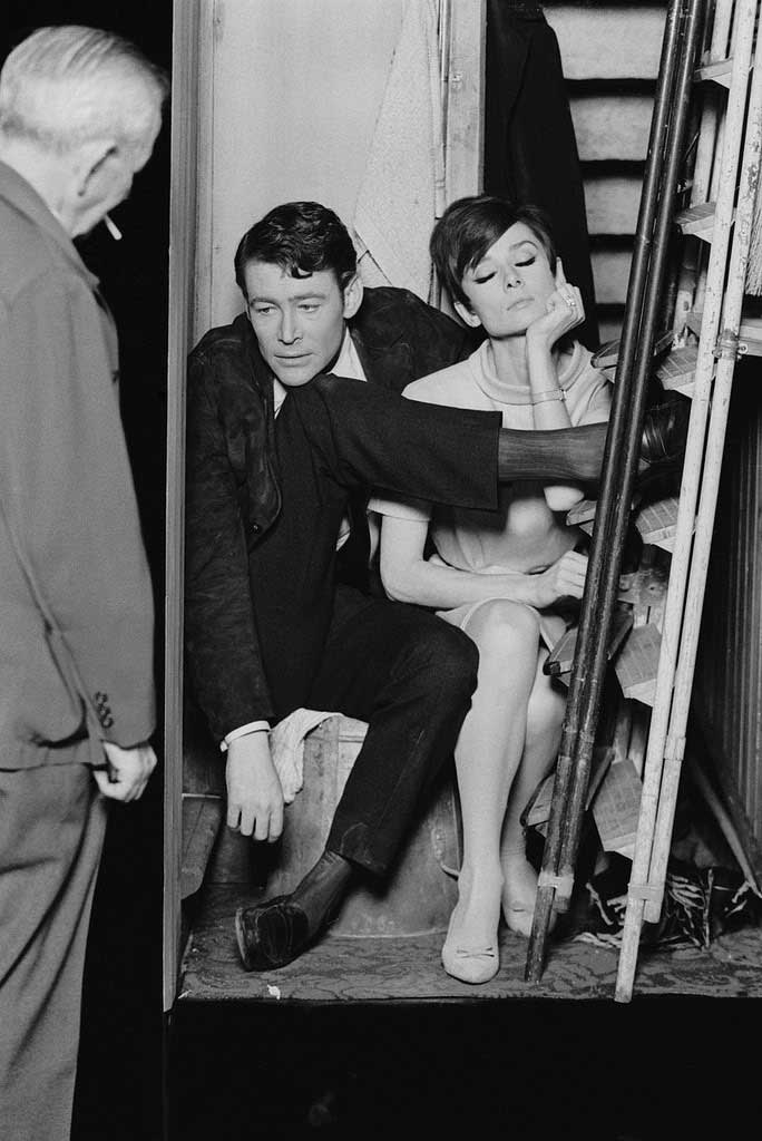 Peter-O'Toole-and-Audrey-Hepburn-getting-directions-from-William-Wyler-on-the-set-of-How-to-Steal-a-Million