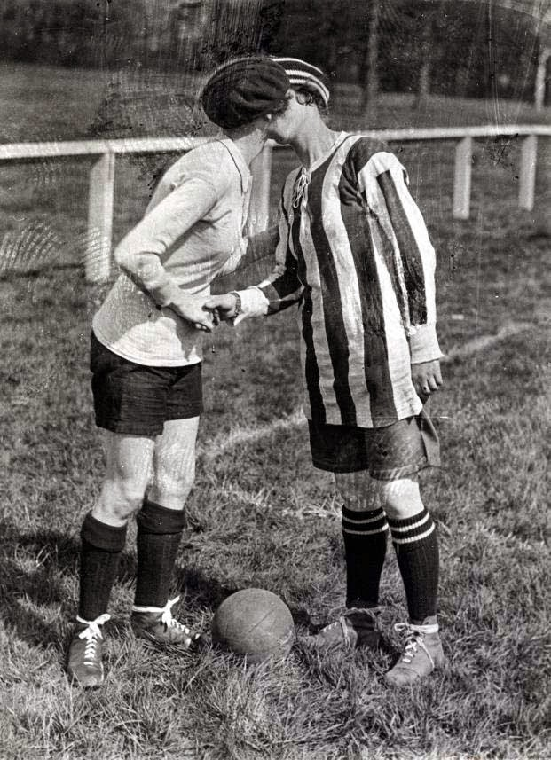 A Kiss Before the Women's Football Game, 1920 (1)