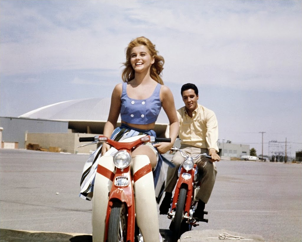 Ann-Margret and Elvis Presley during the filming of Viva Las Vegas in 1963