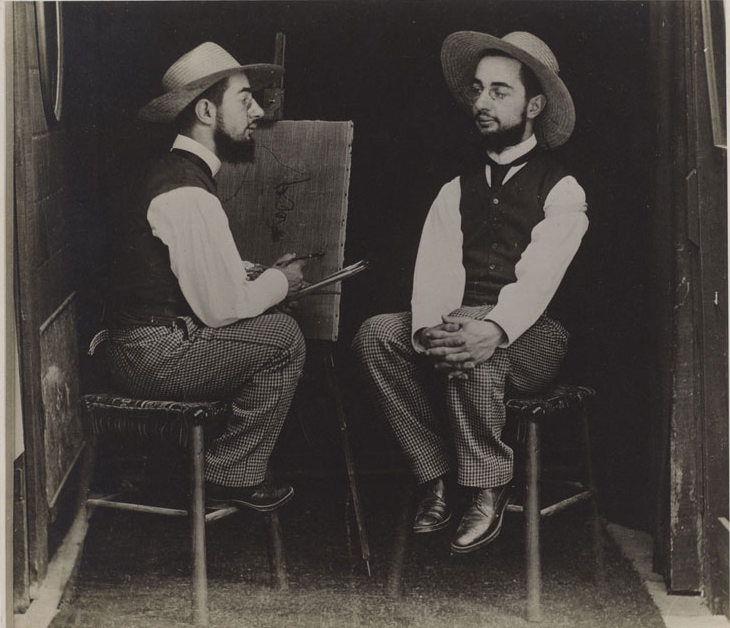Maurice Guibert -- Henri de Toulouse-Lautrec as Artist and Model, ca. 1900 Gelatin Silver Print, PMA-001