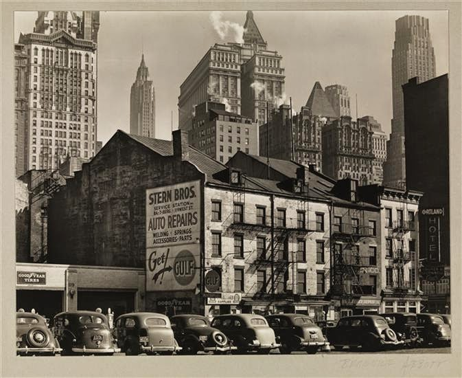 New York. Looking east from West Street, March 23, 1938. Photo by Berenice Abbott