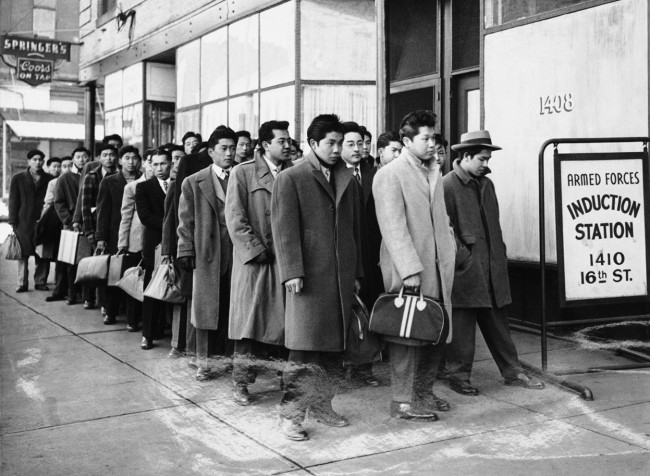 These-48-Japanese-Americans-from-the-Granada-Relocation-Center-near-Lamar-Colorado-reported-for-preinduction-physical-examinations-at-the-Denver-Induction-Station-on-February-22-1944.-AP-Photo-650x476