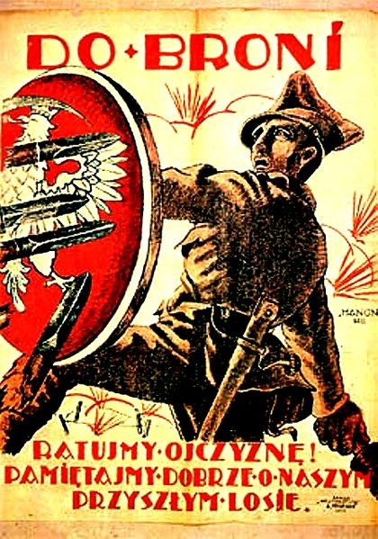 To_arms_-_defent_your_country_Polish-soviet_propaganda_poster_1920_Polish