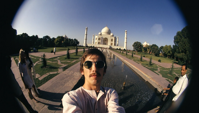 George Harrison's fisheye self-portraits in India, 1966 (1)