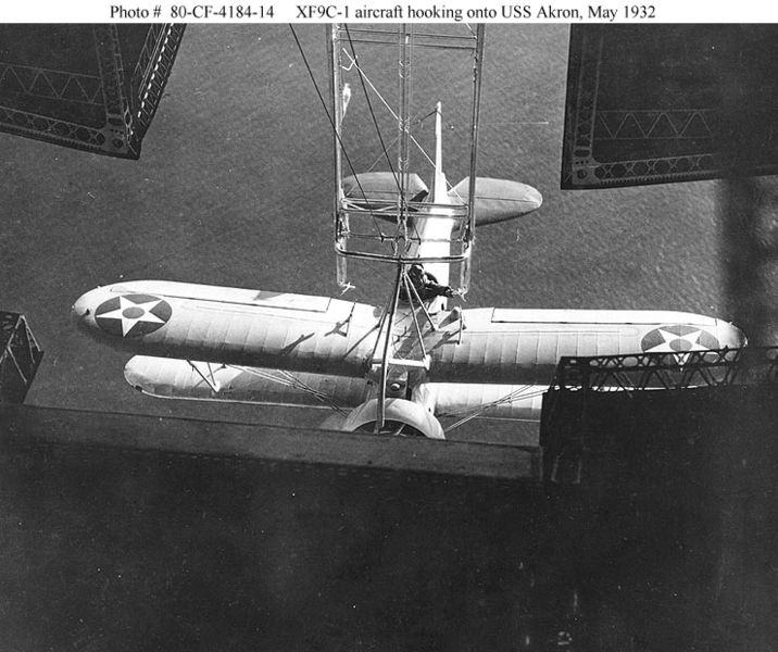 716px-XF9C_1_aircraft_hooking_onto_USS_Akron,_May_1932