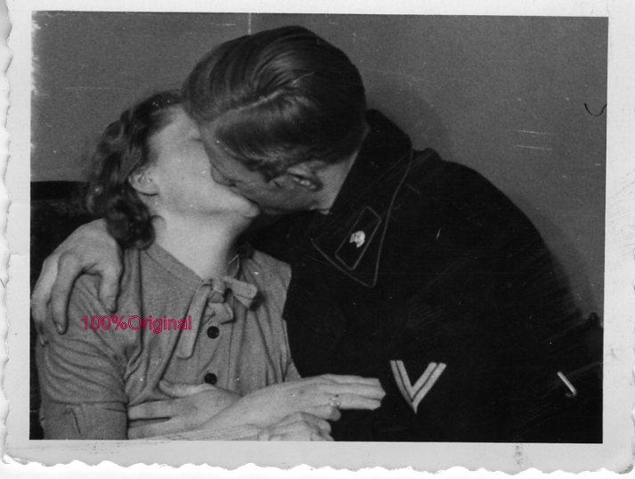 german soldier kissing girl
