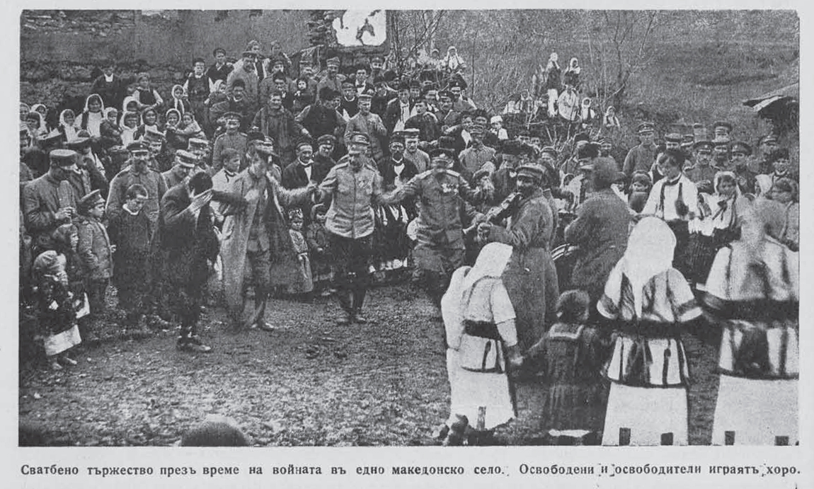 Celebration_in_liberated_village_in_Macedonia_during_ww1