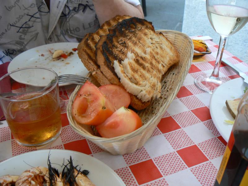 Барселона. Хлеб с помидорами