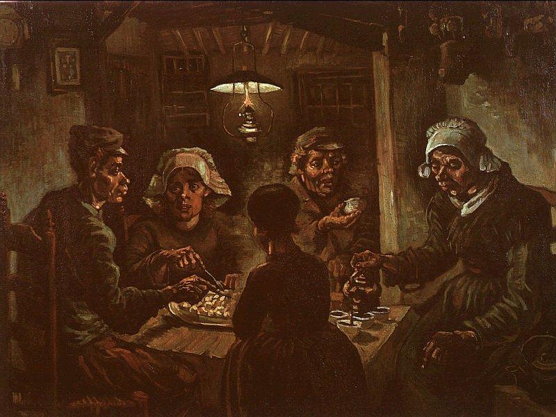 Ван Гог. Едоки картофеля. 1885 г.