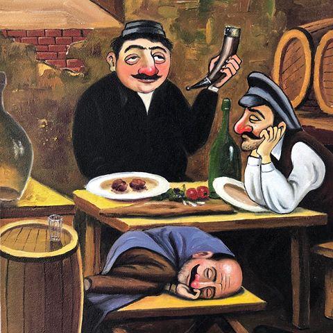 Пиросмани. Кутеж в виноградной беседке