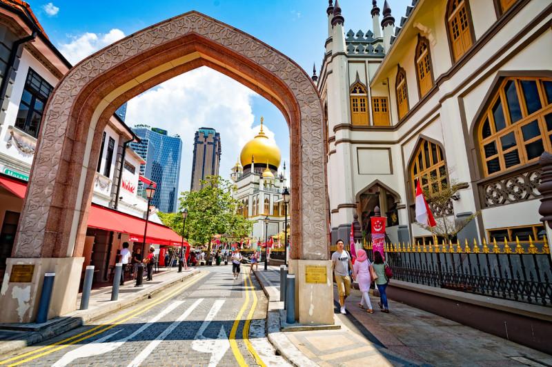 Сингапур. Arab Street и мечеть.