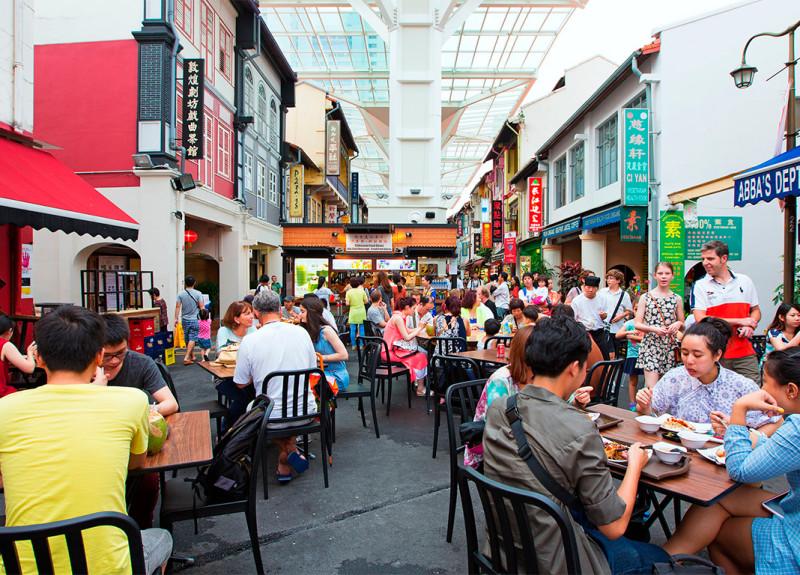 Сингапур. Улица китайской еды.