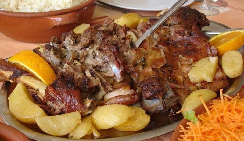 Жареный козленок по-португальски