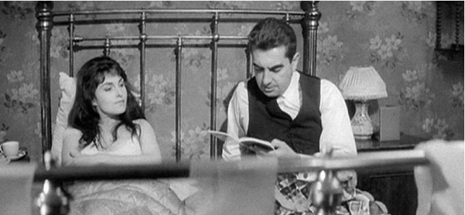 Молли Блум (Barbara Jefford) и Леопольд Блум (Milo O'Shea). Кадр из фильма Джозефа Стрика «Улисс», США, 1967