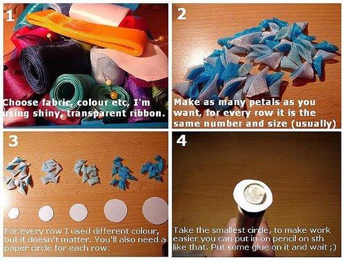 Перевод мастер-класса по созданию хризантемы.  Галерею автора можно найти здесь. www.flickr.com/photos/36265175@N06.