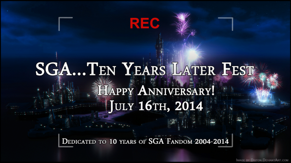 SGA...10 Years Later Happy Anniversary Banner