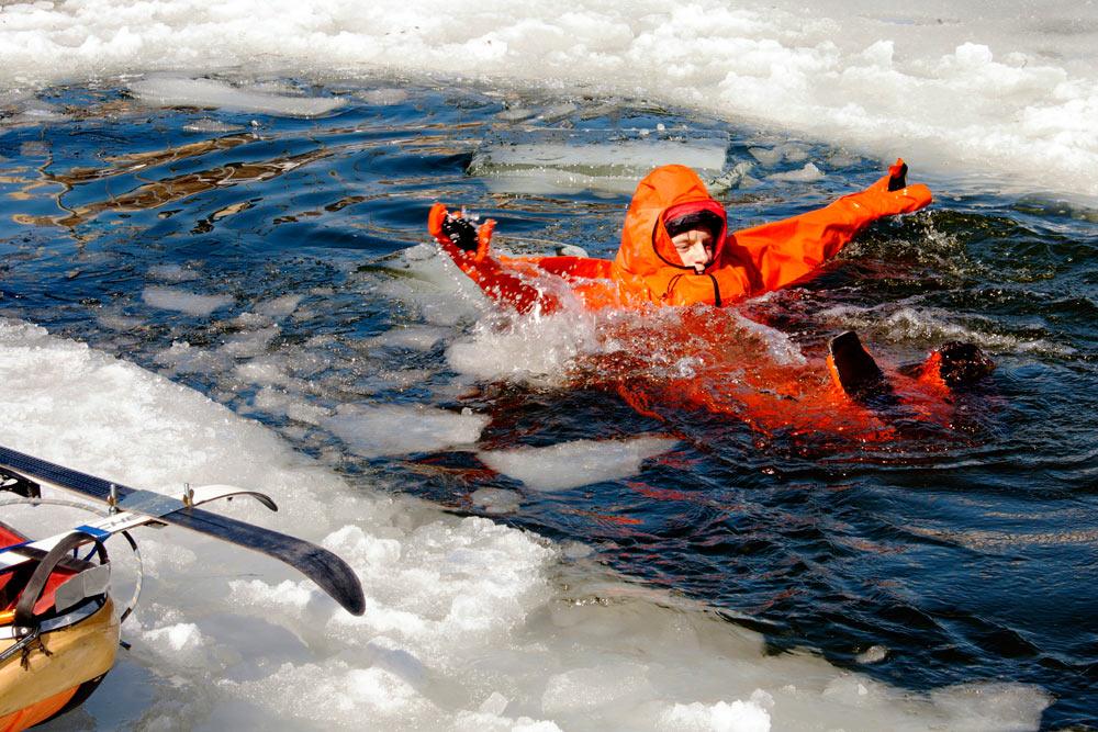 Последняя тренировка школьников перед полярной экспедицией