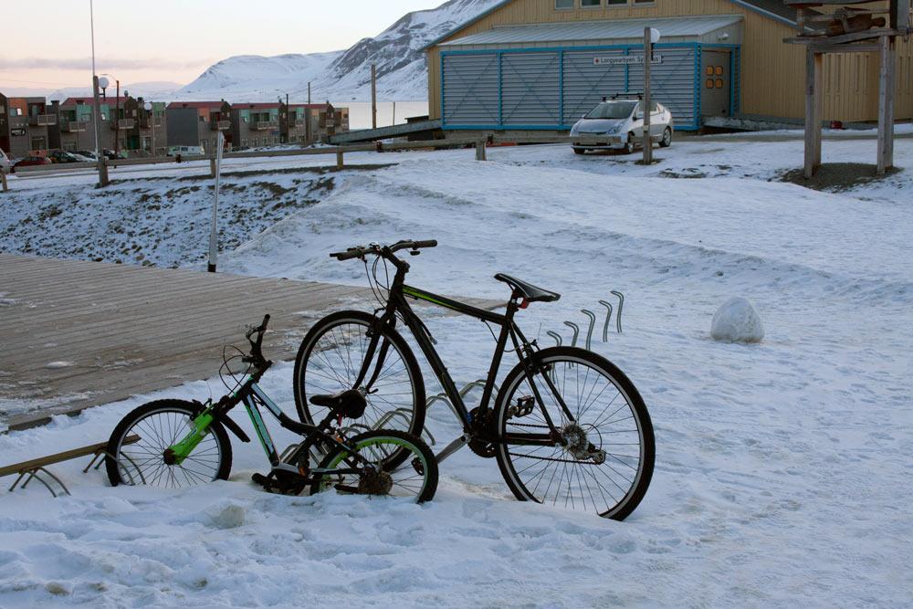 Шпицберген. Велосипеды в Лонгйире