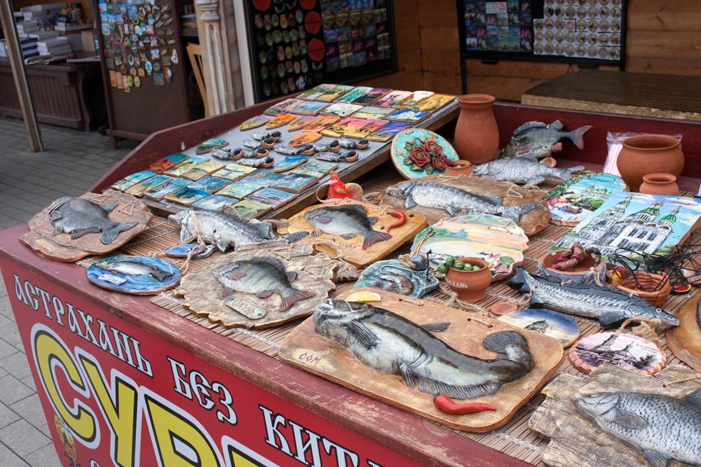 Астраханские сувениры традиционно связаны с рыбалкой