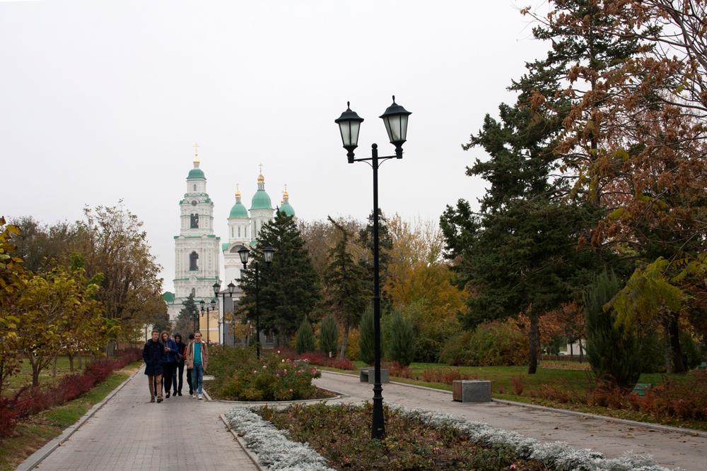 величественный Успенский собор (Соборная церковь) Астрахань