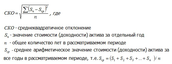 формула - СКО
