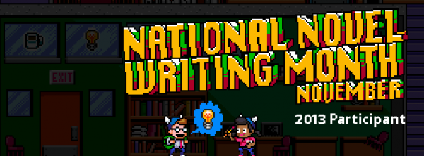Participant banner for NaNoWriMo 2013