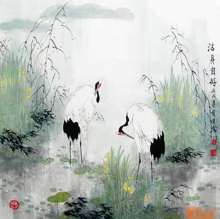 Ирисы в китайской живописи