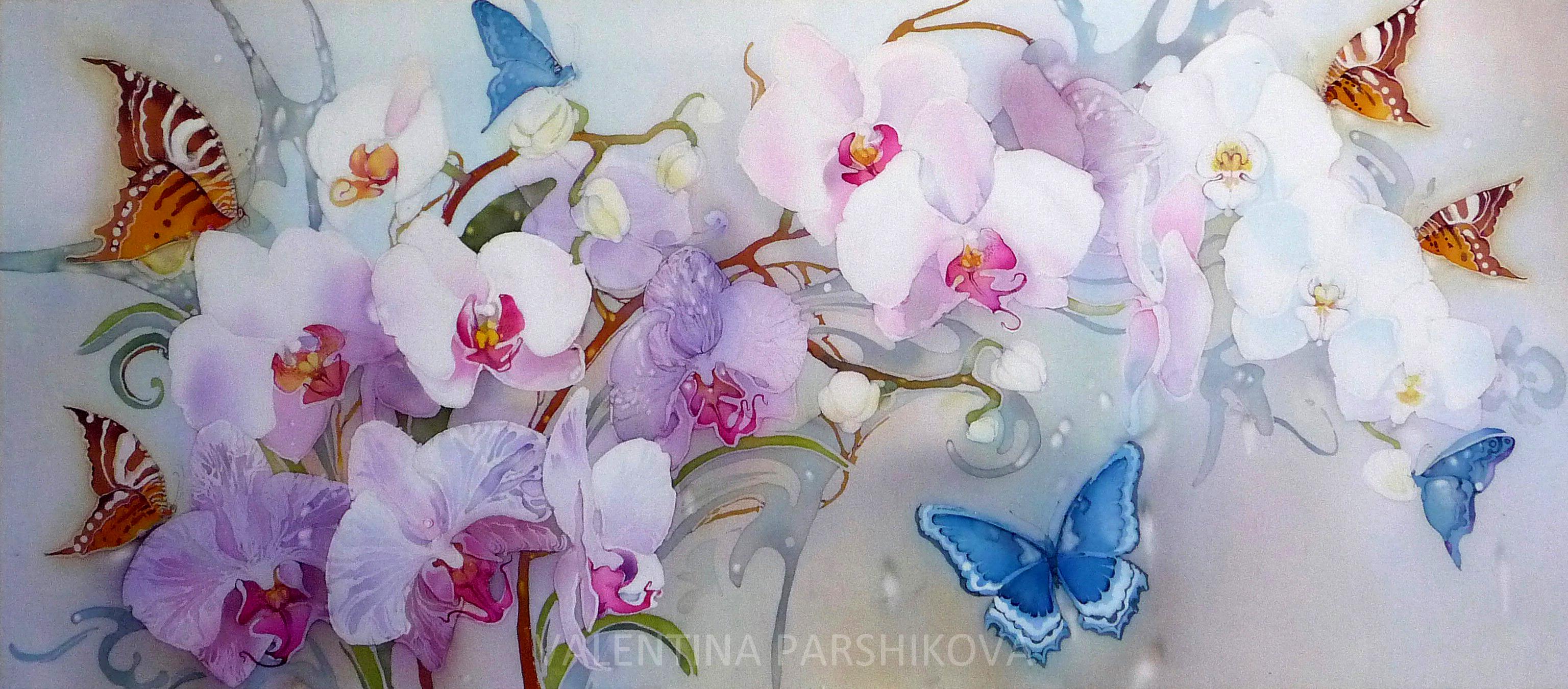 орхидея рисунок: