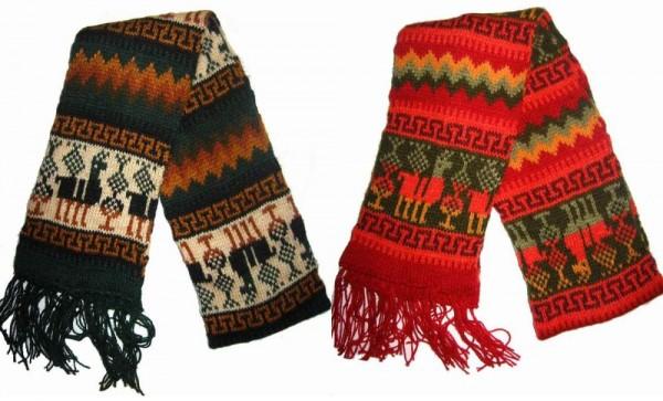 шерстяные шарфы с ламами