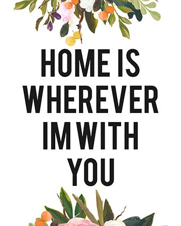 homeiswhereverFloralBw