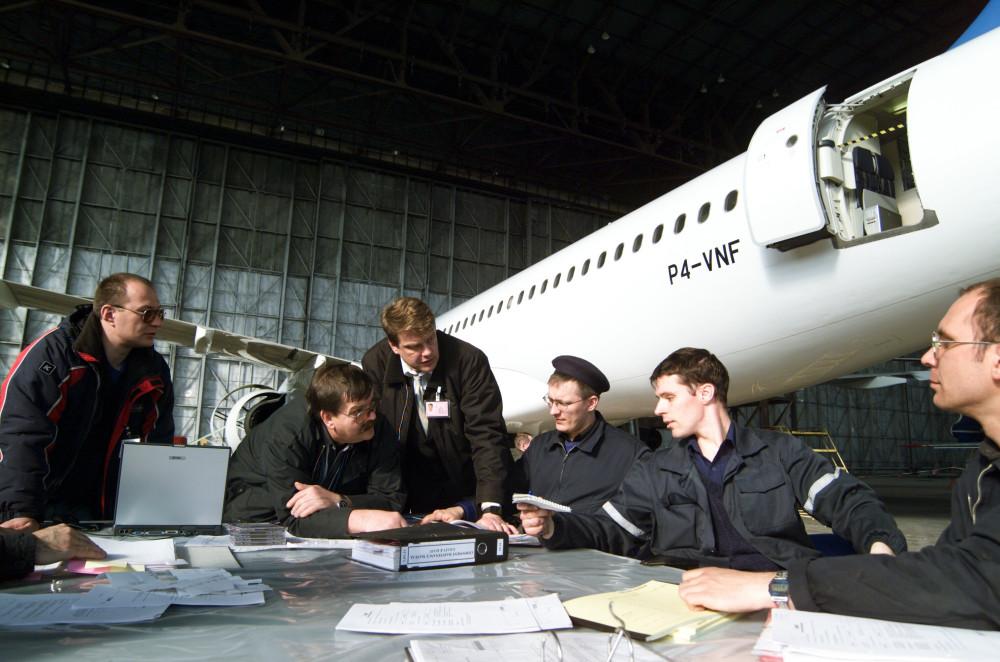 Выполнение первого А-Сhеск на ВС типа Airbus А320 (P4-VNF