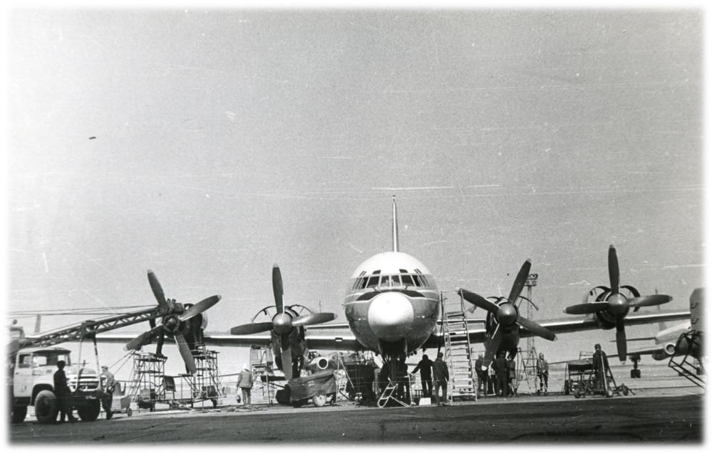 Обслуживание Ил-18 в АТБ