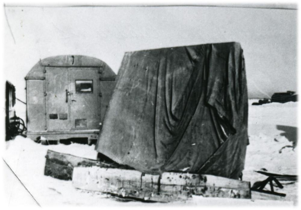 Домик авиатехников на перроне