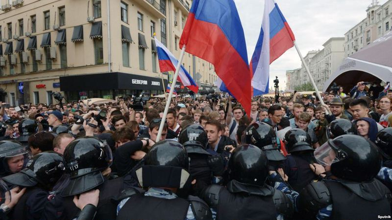 Image result for russia day protest