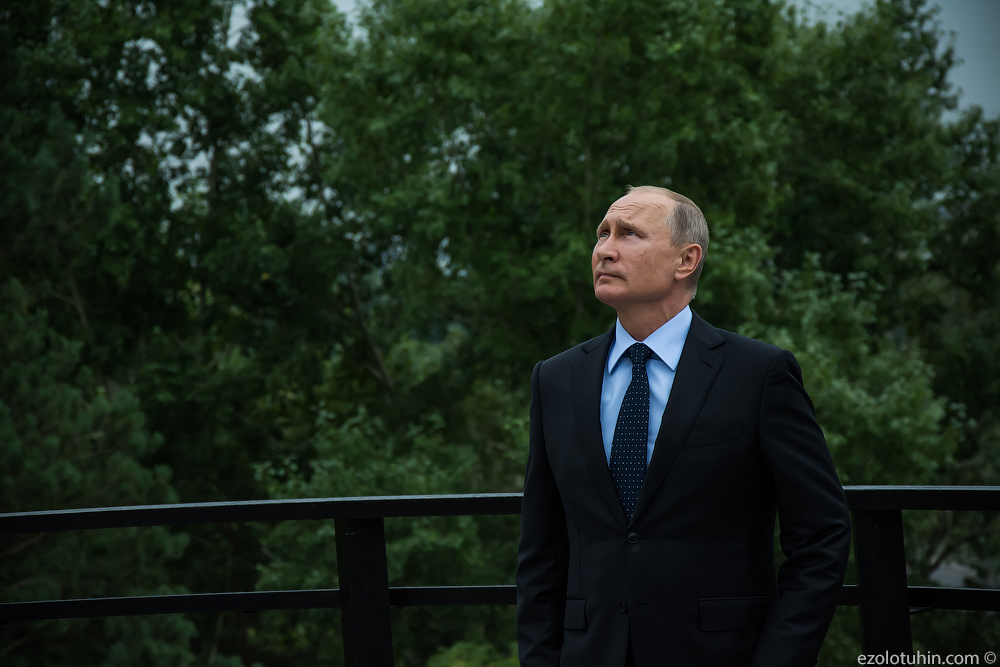 Путин в Кемерово. Первые фото