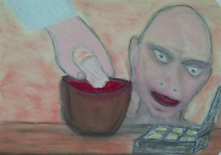 Voldemort as Judas Iscariot (or the other way around) pastel by eus47