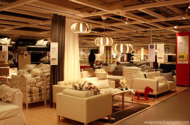 Vistavochnii zal v IKEA v Finlyandii