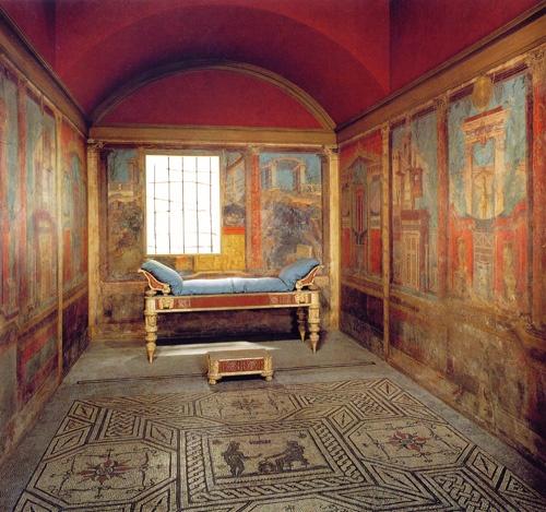 римский спальня с фресками. Хронология- 40 - 30 г. до Р.Х.