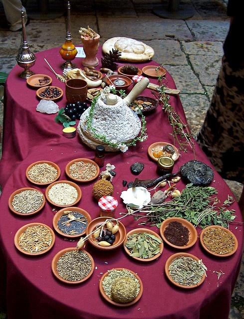 Taula parada a la romana Roman food, Thermopolium (by KuanUm), Tarraco viva