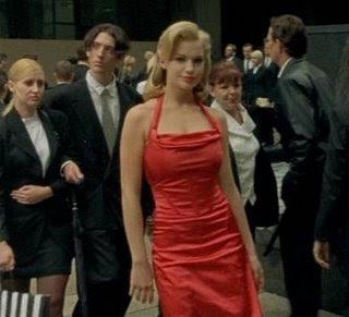 matrix red dress