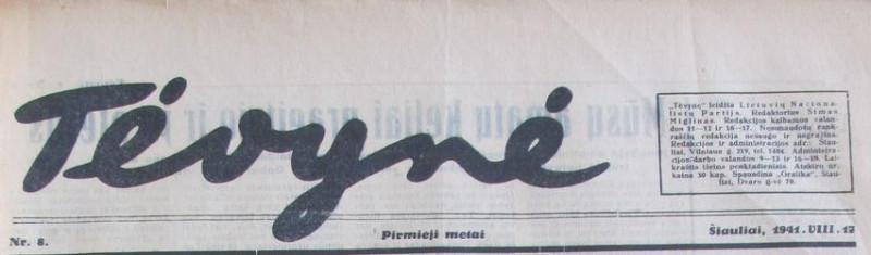 laikraščio vinjetė