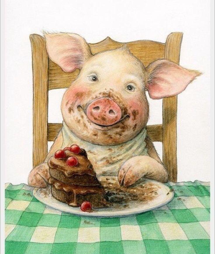 Рисунки свиньи прикольные