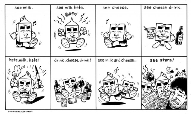 milk and cheese comic strip